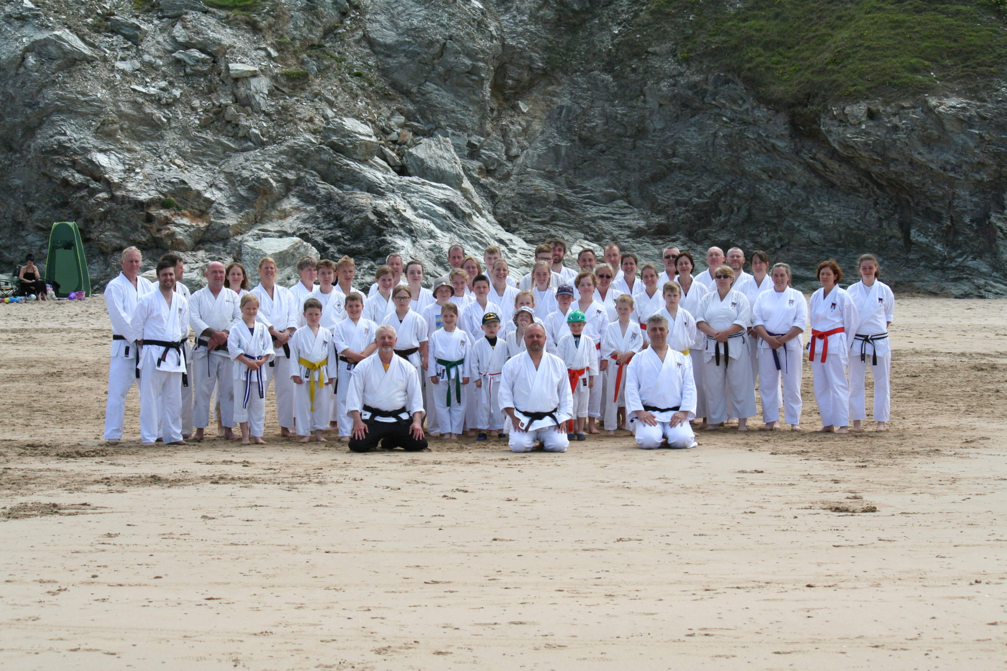 Perran Sands training on the beach