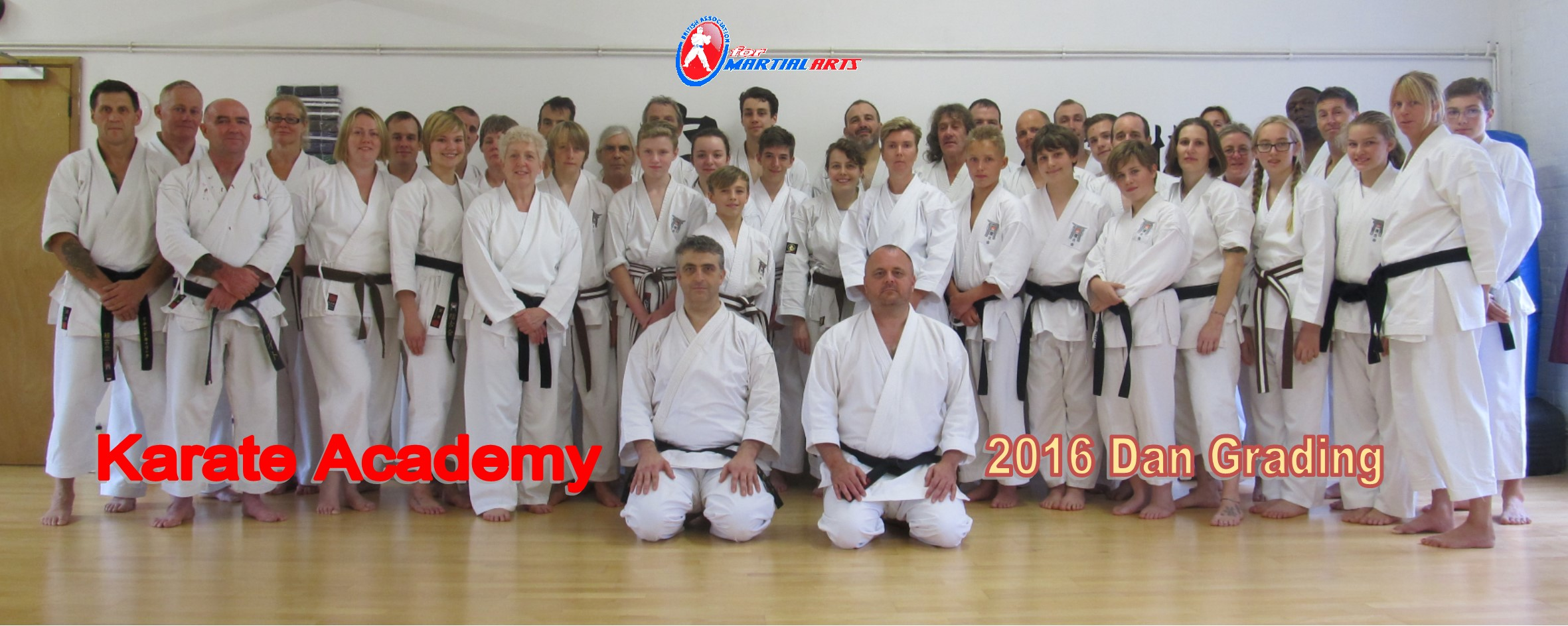 Brown and Black Belts at Karate Academy
